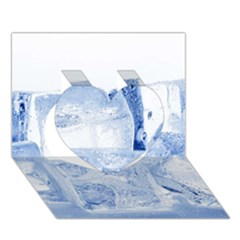ICE CUBES Heart 3D Greeting Card (7x5)