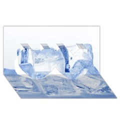 ICE CUBES Twin Hearts 3D Greeting Card (8x4)