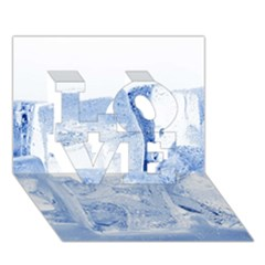 ICE CUBES LOVE 3D Greeting Card (7x5)