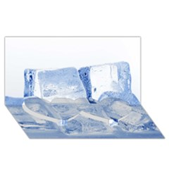 ICE CUBES Twin Heart Bottom 3D Greeting Card (8x4)