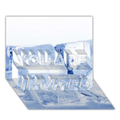 Ice Cubes You Are Invited 3d Greeting Card (7x5)