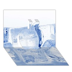 Ice Cubes Apple 3d Greeting Card (7x5)