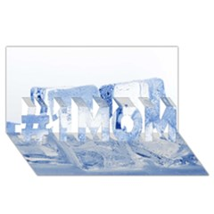 ICE CUBES #1 MOM 3D Greeting Cards (8x4)
