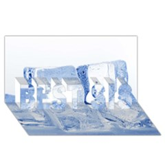 Ice Cubes Best Sis 3d Greeting Card (8x4)