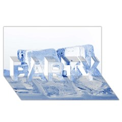 ICE CUBES PARTY 3D Greeting Card (8x4)