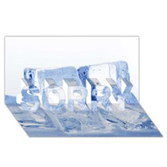 ICE CUBES SORRY 3D Greeting Card (8x4)