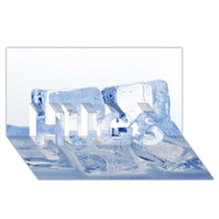ICE CUBES HUGS 3D Greeting Card (8x4)