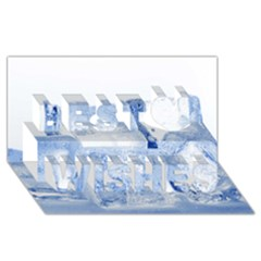 Ice Cubes Best Wish 3d Greeting Card (8x4)
