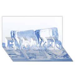 ICE CUBES ENGAGED 3D Greeting Card (8x4)
