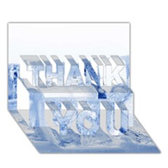 ICE CUBES THANK YOU 3D Greeting Card (7x5)