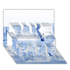 ICE CUBES TAKE CARE 3D Greeting Card (7x5)