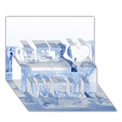 ICE CUBES Get Well 3D Greeting Card (7x5)