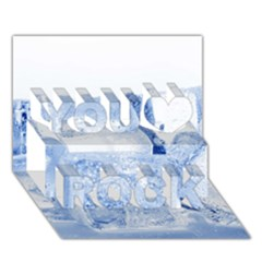 ICE CUBES You Rock 3D Greeting Card (7x5)