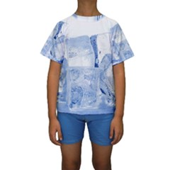Ice Cubes Kid s Short Sleeve Swimwear