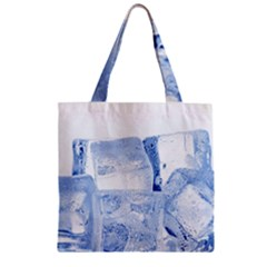 ICE CUBES Zipper Grocery Tote Bags
