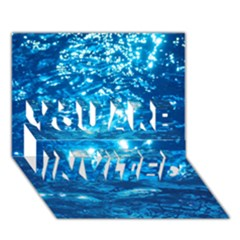 LIGHT ON WATER YOU ARE INVITED 3D Greeting Card (7x5)
