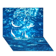 Light On Water Clover 3d Greeting Card (7x5)