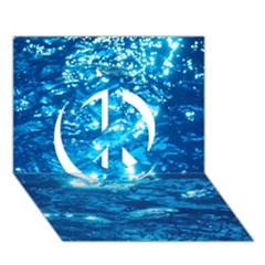 Light On Water Peace Sign 3d Greeting Card (7x5)