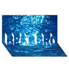 LIGHT ON WATER BEST BRO 3D Greeting Card (8x4)