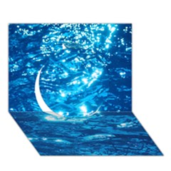 Light On Water Circle 3d Greeting Card (7x5)