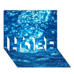 LIGHT ON WATER HOPE 3D Greeting Card (7x5)