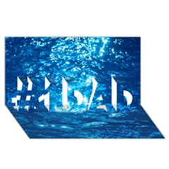 Light On Water #1 Dad 3d Greeting Card (8x4)