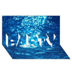 Light On Water Party 3d Greeting Card (8x4)