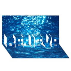 Light On Water Believe 3d Greeting Card (8x4)