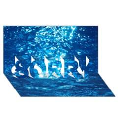 LIGHT ON WATER SORRY 3D Greeting Card (8x4)