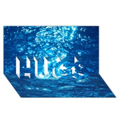 LIGHT ON WATER HUGS 3D Greeting Card (8x4)