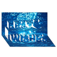 LIGHT ON WATER Best Wish 3D Greeting Card (8x4)