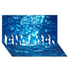 Light On Water Engaged 3d Greeting Card (8x4)
