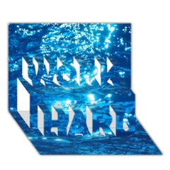 Light On Water Work Hard 3d Greeting Card (7x5)