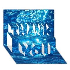 LIGHT ON WATER THANK YOU 3D Greeting Card (7x5)