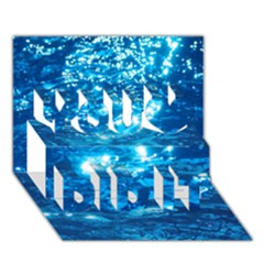 Light On Water You Did It 3d Greeting Card (7x5)