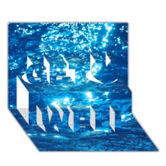 LIGHT ON WATER Get Well 3D Greeting Card (7x5)