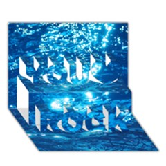 Light On Water You Rock 3d Greeting Card (7x5)