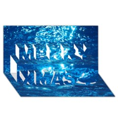 LIGHT ON WATER Merry Xmas 3D Greeting Card (8x4)