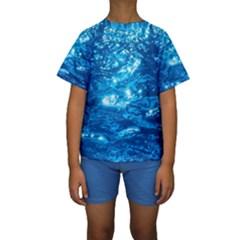 LIGHT ON WATER Kid s Short Sleeve Swimwear