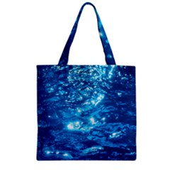 LIGHT ON WATER Zipper Grocery Tote Bags