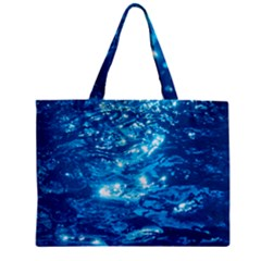 LIGHT ON WATER Zipper Tiny Tote Bags
