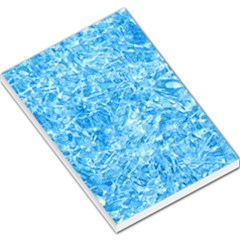 Blue Ice Crystals Large Memo Pads