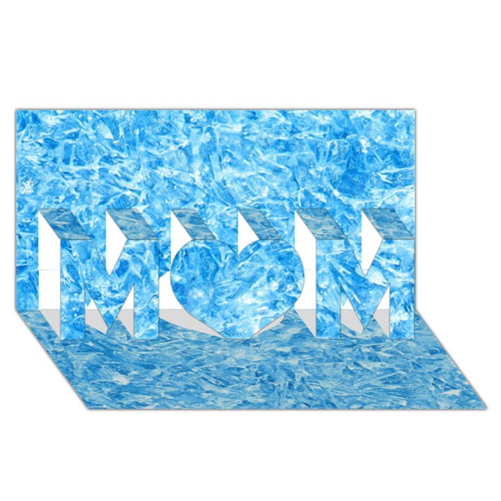 BLUE ICE CRYSTALS MOM 3D Greeting Card (8x4)