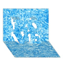 Blue Ice Crystals Love 3d Greeting Card (7x5)