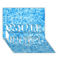 Blue Ice Crystals You Are Invited 3d Greeting Card (7x5)