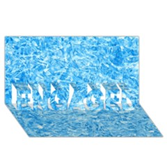 BLUE ICE CRYSTALS ENGAGED 3D Greeting Card (8x4)