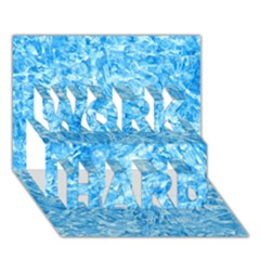 BLUE ICE CRYSTALS WORK HARD 3D Greeting Card (7x5)
