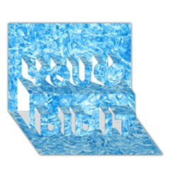 Blue Ice Crystals You Did It 3d Greeting Card (7x5)