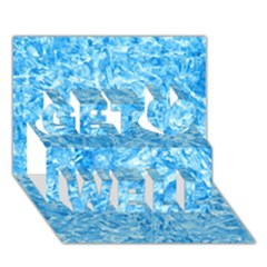 BLUE ICE CRYSTALS Get Well 3D Greeting Card (7x5)