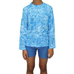 BLUE ICE CRYSTALS Kid s Long Sleeve Swimwear